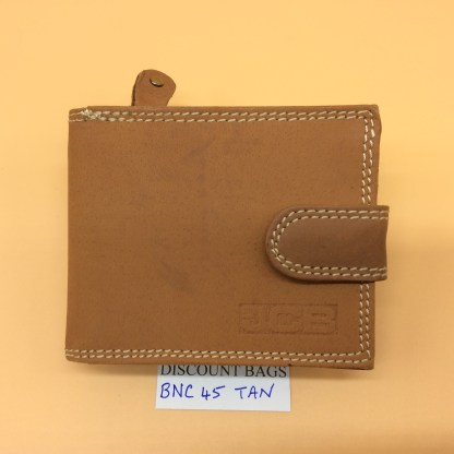 RFID Leather Wallet. NC. 45EH. Tan