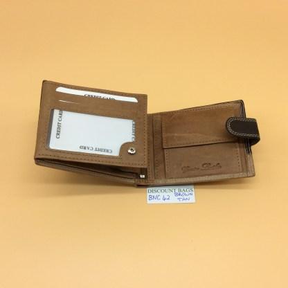 RFID Leather Wallet - NC42. Brown/Tan