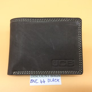 RFID Leather Wallet - 44EH. Black