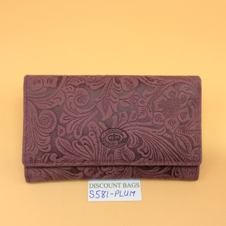 London Leather Goods. 0581. Plum