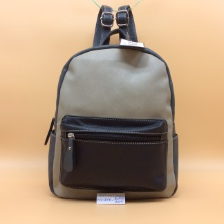 Envy faux leather rucksack. Zoe. Black Multi