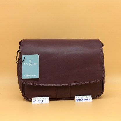 Nova Leather Bag. N720. Burgundy