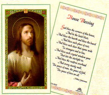 House Blessing Laminated Prayer Card