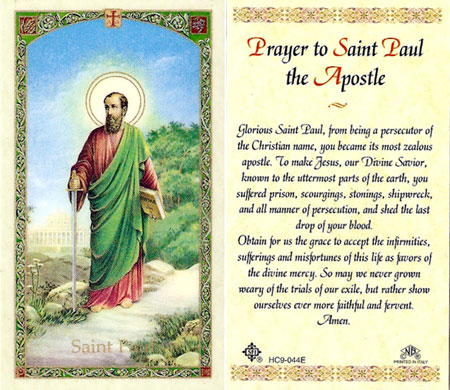 Image result for catholic prayer of st PAUL