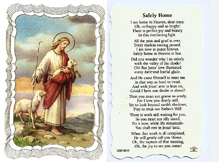Safely Home Linen Prayer Card