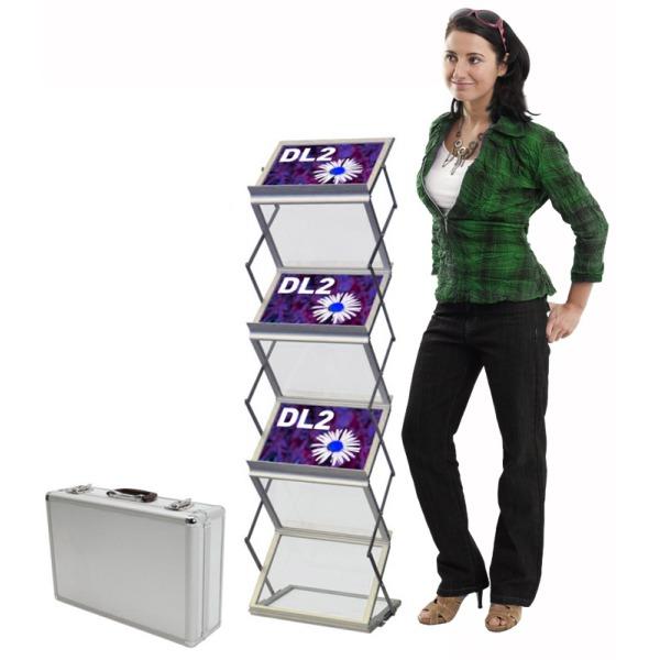 6 x a4 landscape compact literature rack