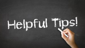 professional moving service helpful tips on chalkboard