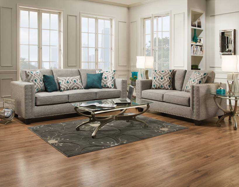 Paradigm Quartz Fog Sofa And Loveseat Set