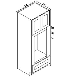 om3390b 90 oven microwave cabinet ultra white shaker