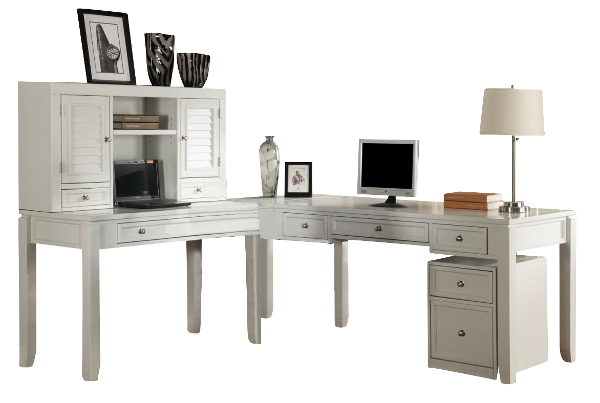 Parker House Boca 5 Piece L Shaped Modular Office Desk In