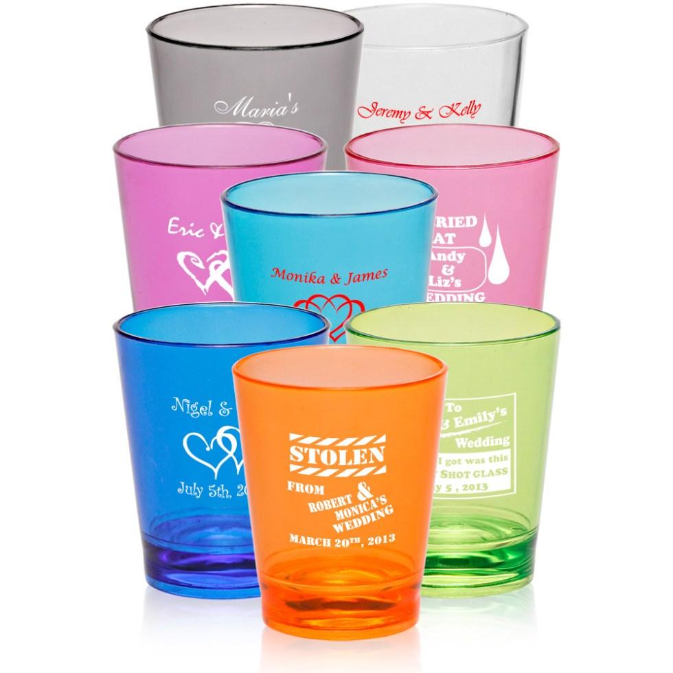 Personalized 1.5 oz. Translucent Plastic Shot Glasses ...