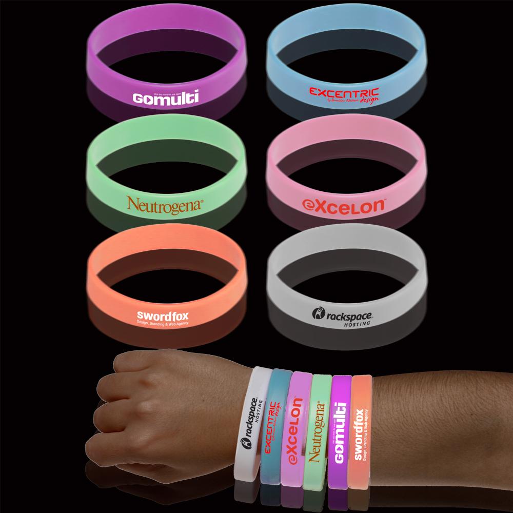 Custom Glow In The Dark Wristbands SWBD DiscountMugs
