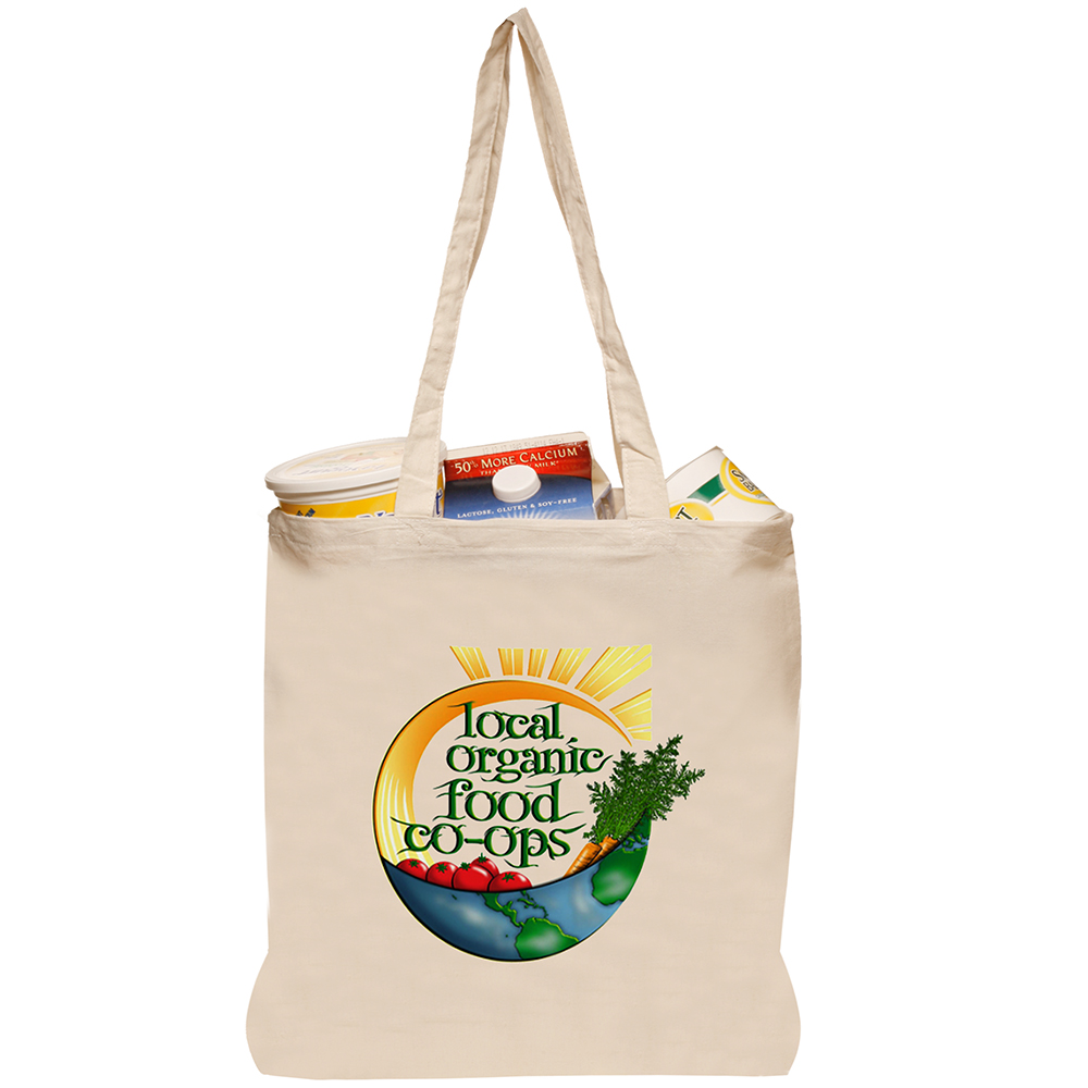 Recycle Canvas Grocery Totes Logo