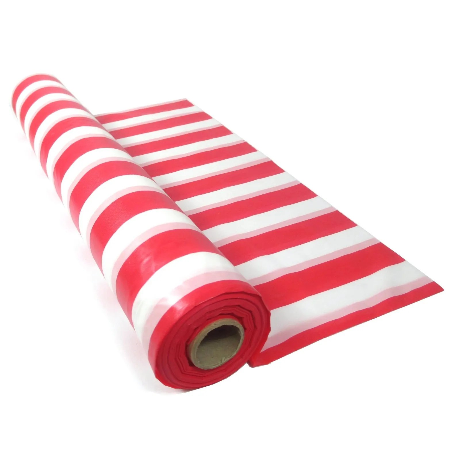 Red Amp White Striped Plastic Tablecloth Table Roll Circus