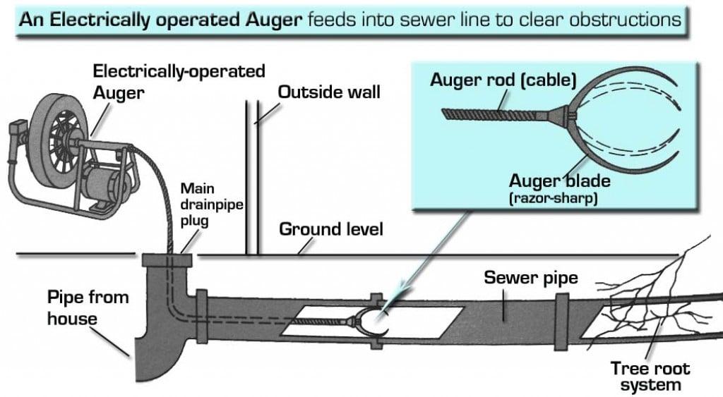 snake sewer line