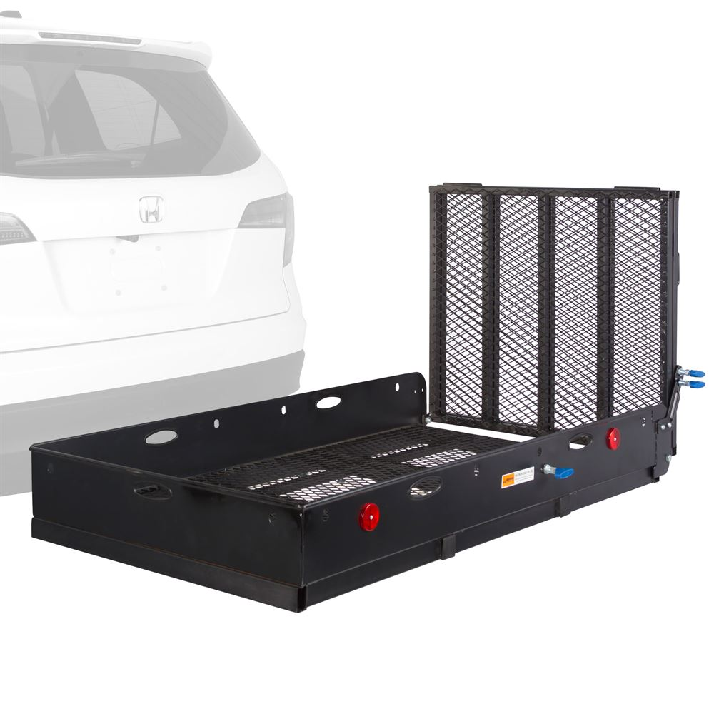 apex steel heavy duty basket cargo carrier with ramp