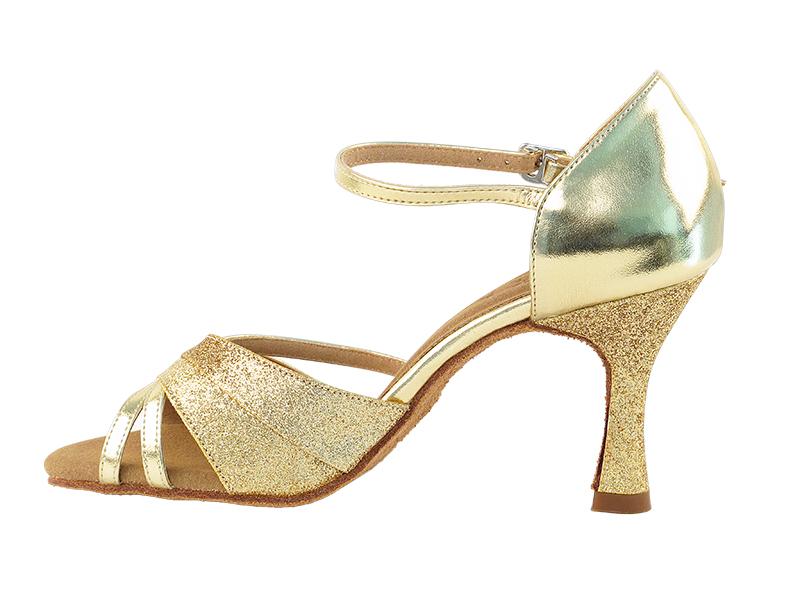 Very Fine Dance Shoes 6030 Silver Stardust 2.5 Heel Size 8 1//2