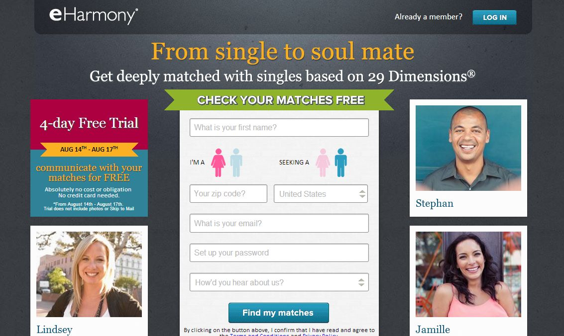 Eharmony free trial weekend