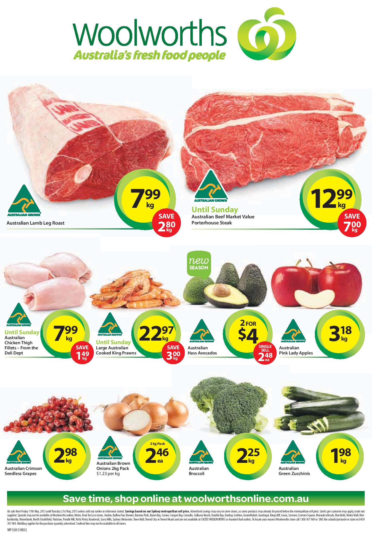 Woolworths Meat And Fresh Food Online Catalogue