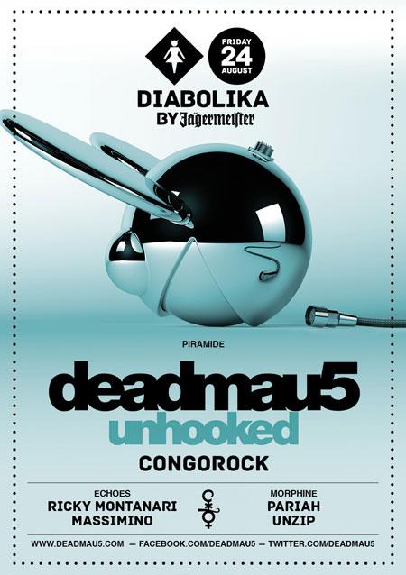 Deadmau5 al Cocorico Riccione Venerdi 24 Agosto