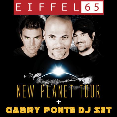 Domenica 5 Agosto Peter Pan Concerto degli Eiffel 65 - Gabry Ponte Dj Set