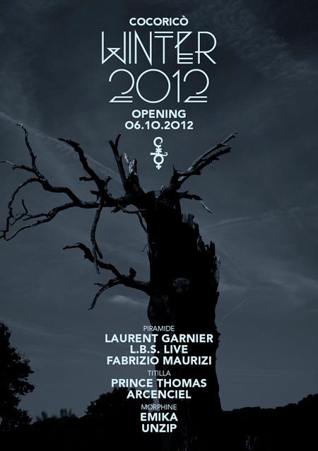Cocorico Sabato 6 Ottobre apertura stagione autunno-inverno 2012-2013