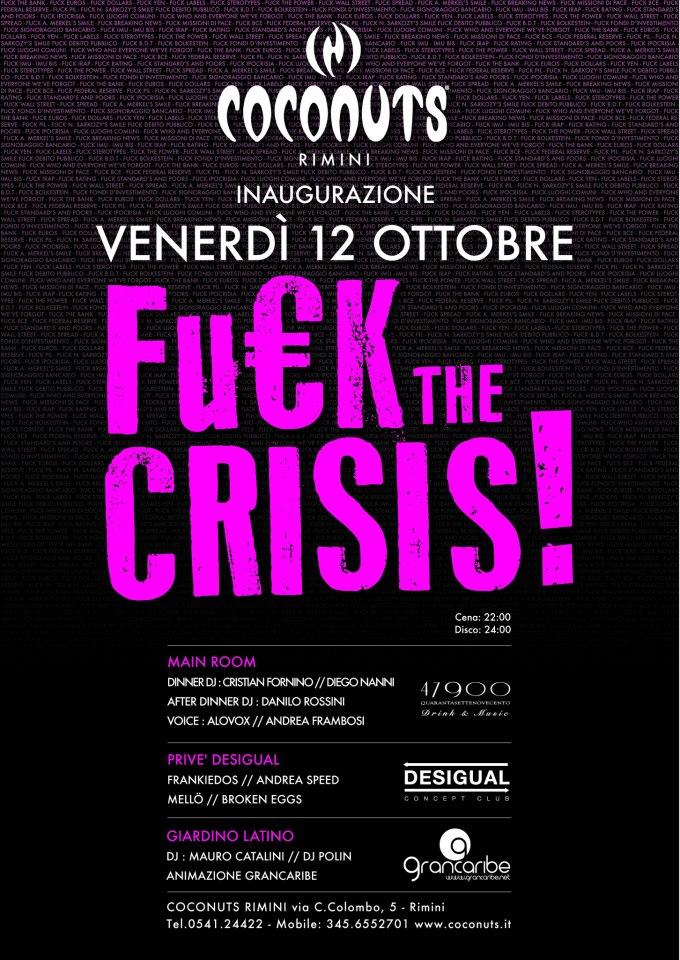 Venerdi 12 Ottobre opening party Coconuts Rimini