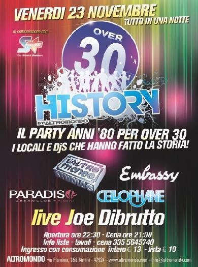 23 Novembre Discoteca Altromondo il party anni '80 per gli over 30