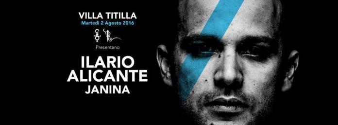 Special guest Ilario Alicante Martedi 2 Agosto Villa delle Rose