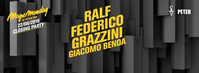 22-8-2016 Closing Party Magic Monday Peter Pan Riccione