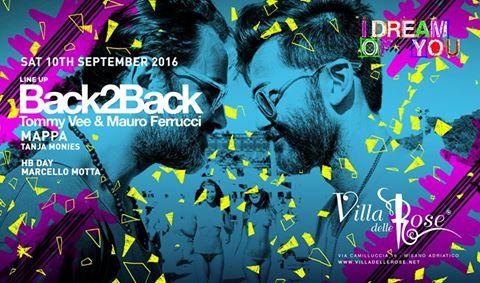 9 e 10 Settembre 2016 penultimo weekend Villa delle Rose Riccione