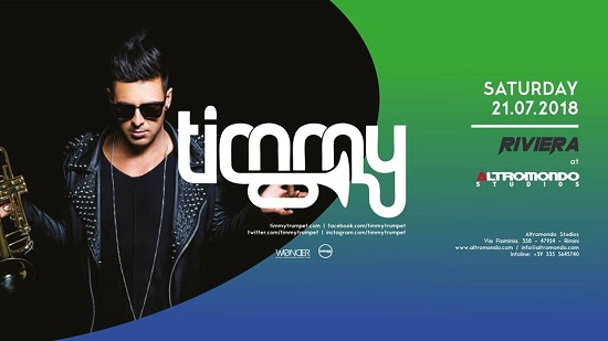 Sabato 21 luglio Timmy Trumpet special guest dell'Altromondo Studios