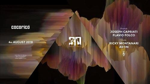 Per l'evento di sabato 4 agosto, special guest Joseph Capriati al Cocorico