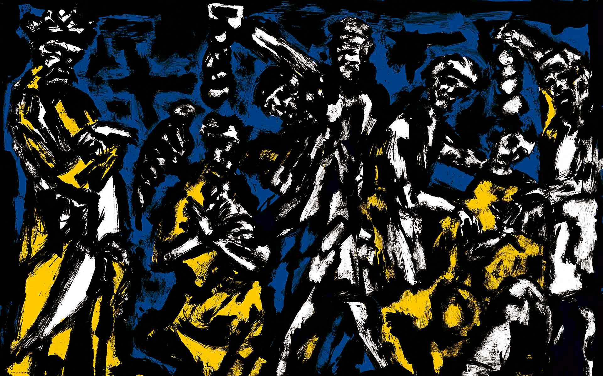 Norbert Klora Crusade Digital Printing on Paper, Exhibition Criss-Cross