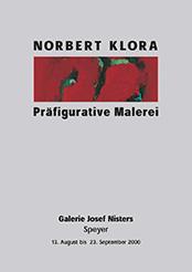Norbert Klora, Exhibition Catalog 'Präfigurative Malerei', Josef Nisters Gallery, Speyer, 2000, contemporary art, painting, drawing, printing