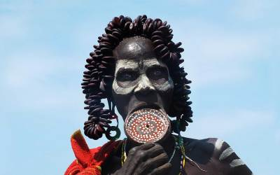 Norbert Klora, Woman of the Tribe of Mursi, South Ethiopia, 2016