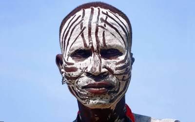 Norbert Klora, Man of the Tribe of Karo, South Ethiopia, 2016