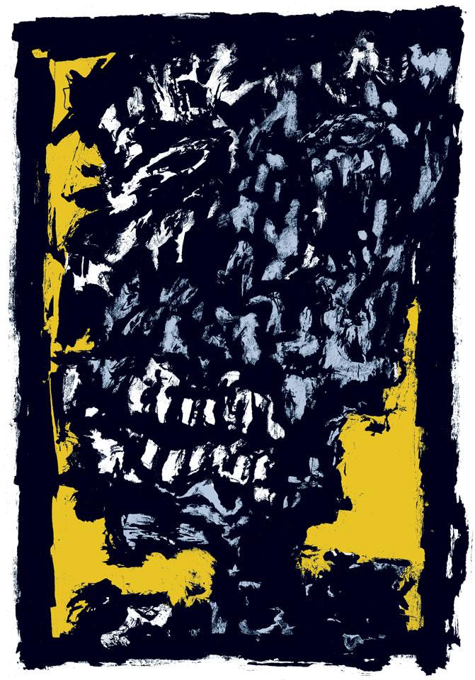 Norbert Klora, Verrückt in Rom, 2000, Lithografie