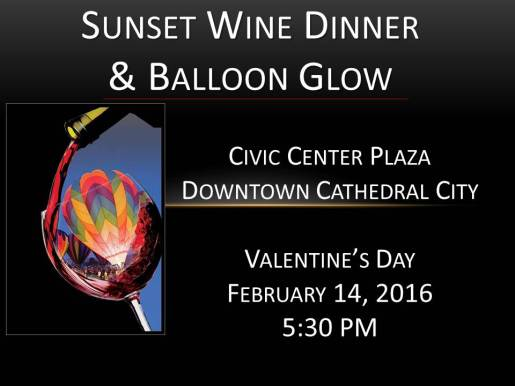 Slides for Promo 2016 - Updated December 8 2015 - New Sunset Wine Dinner Pic