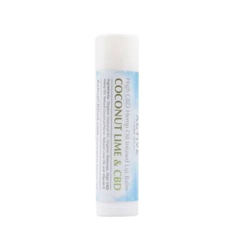 Active CBD Oil Lip Balm Coconut Lime