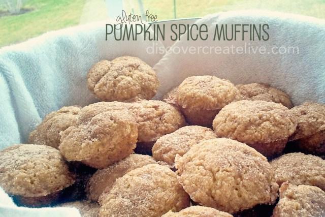 Gluten Free Pumpkin Spice Mini Muffins