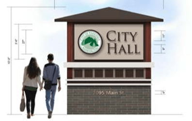 proposed city hall monument sign 2018-02 city council documents