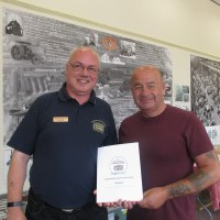 Chairman Andrew Birkitt and Vice-President of the Association Paul Kemp