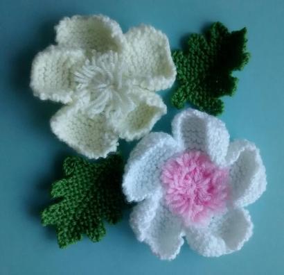 knitted flower