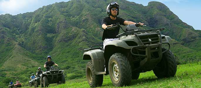 Two Hour ATV Tour at Kualoa Ranch with Transportation