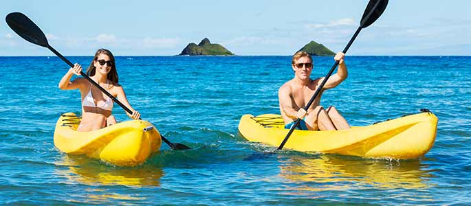Kayak From Kailua Beach on Oahu