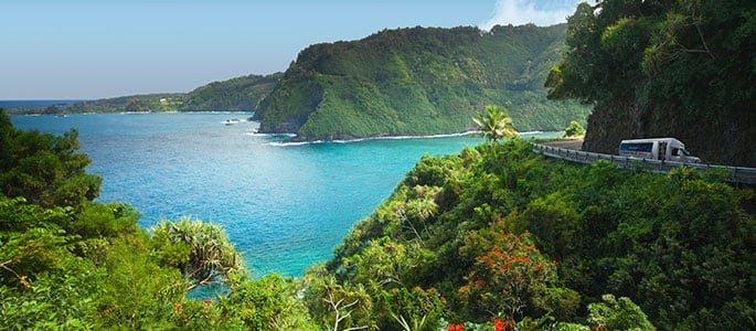 Experience the endless coastal views of the beautiful Road to Hana