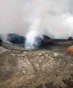 Halema`uma`u Crater at Hawaii Volcanoes National Park