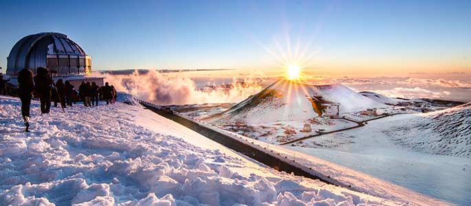 Winter at Mauna Kea Summit