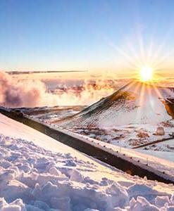 Winter at Mauna Kea Summit